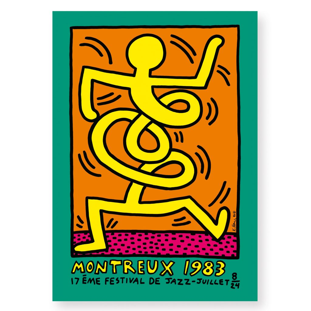 Silk Screen Print-Keith Haring-Montreux 1983