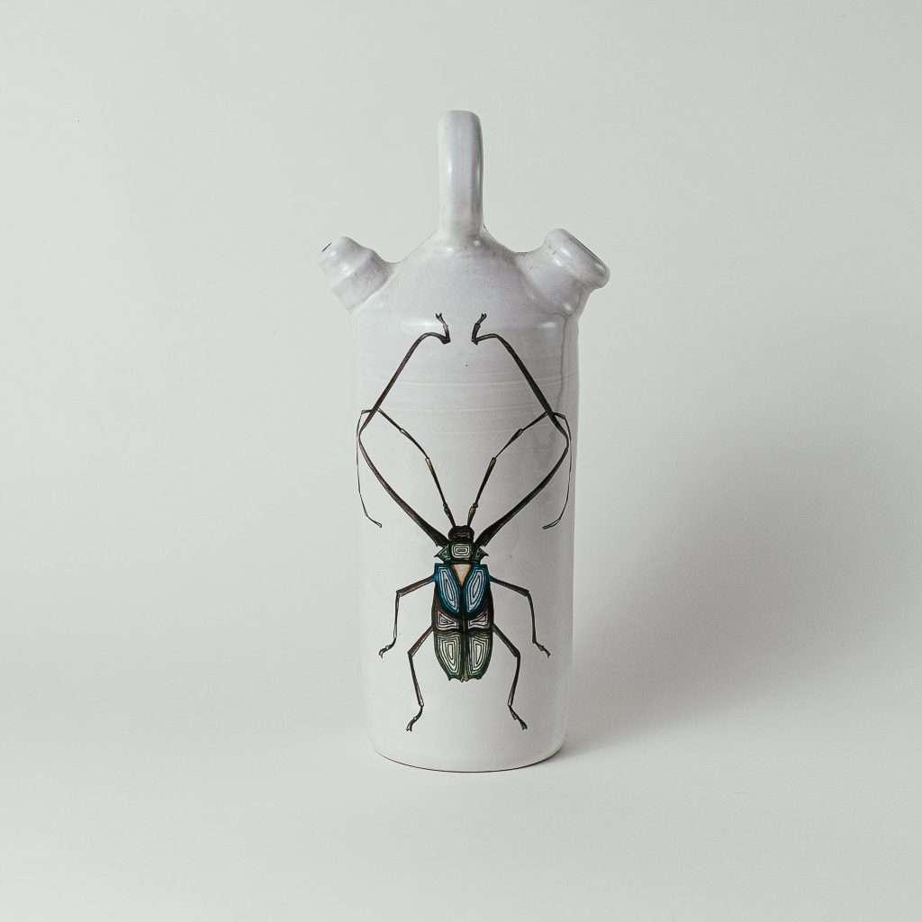 Harlequin beetle botijo