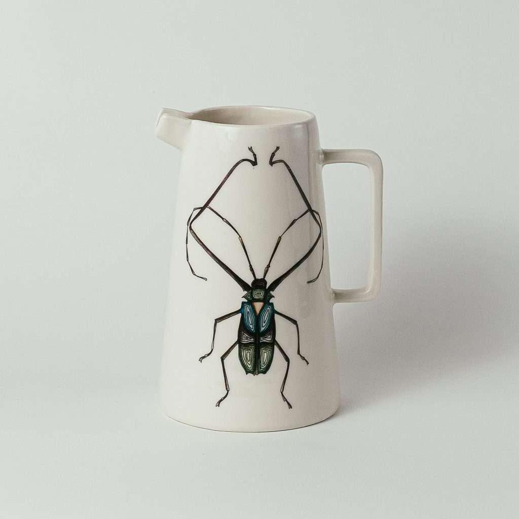 Harlequin beetle water jug