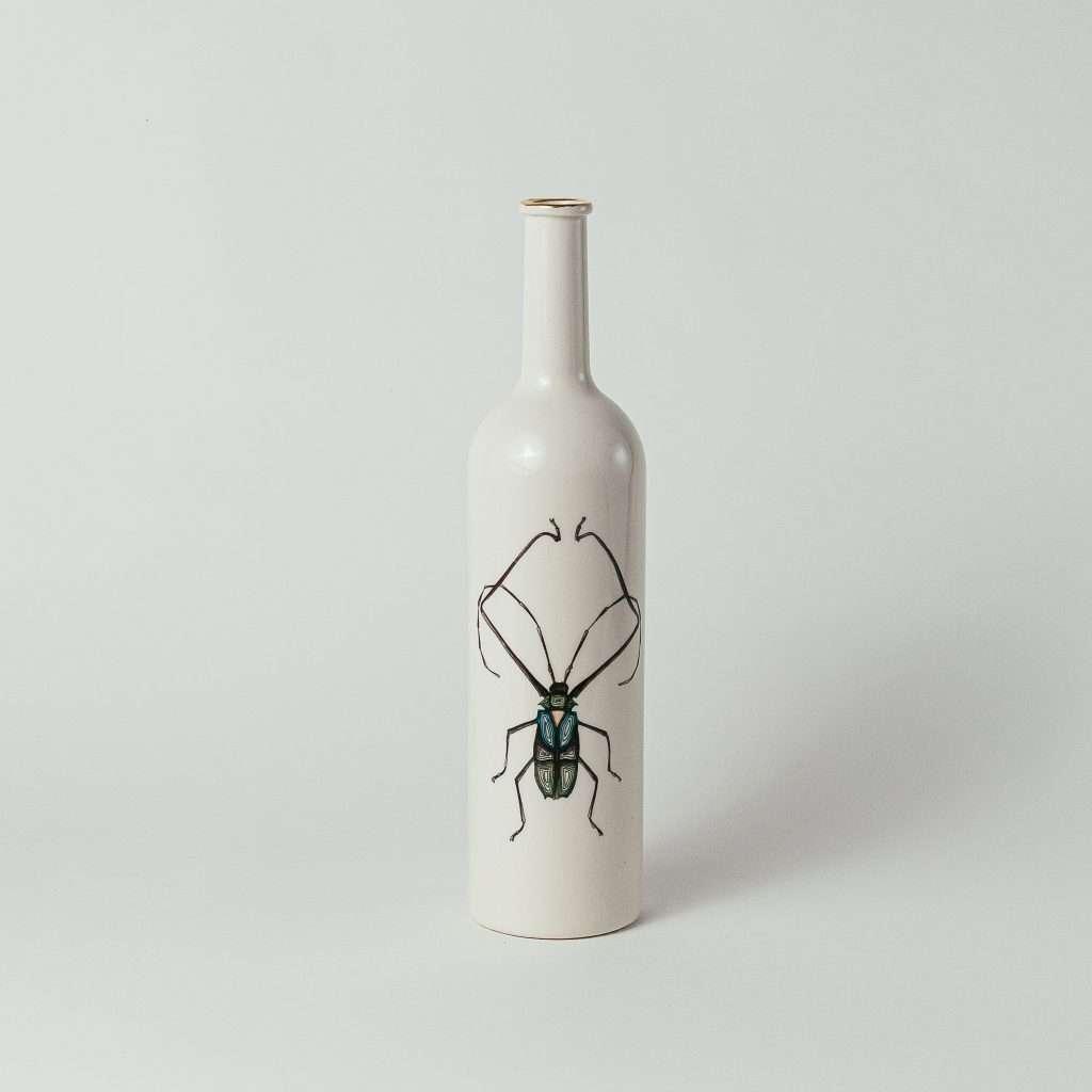 Harlequin beetle water bottle